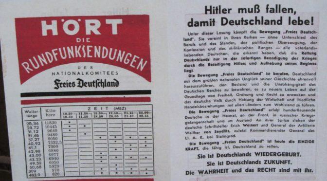 Deutschland muss leben, deshalb muss Hitler fallen