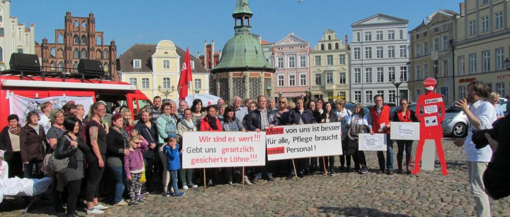 Proteste gegen Personalmangel in der Pflege