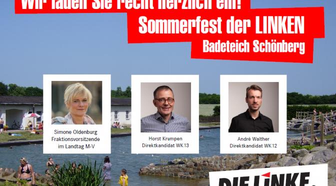Willkommen auf dem Sommerfest in Schönberg