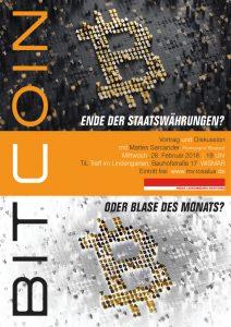 Bitcoin – Ende der Staatswährungen oder Blase des Monats? @ Treffpunkt im Lindengarten | Wismar | Mecklenburg-Vorpommern | Deutschland