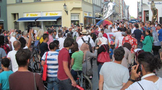 Eindrucksvolle Demonstration in der Hansestadt Wismar