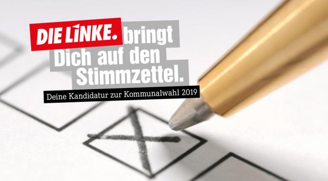 Kommunalwahlen 2019: Mitmachen. Verändern.