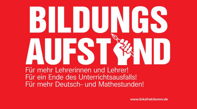 Der Bildungsaufstand geht weiter!