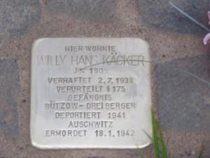 Neuer Stolperstein in Wismar verlegt